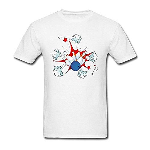 MRFDA Bowling Ball Strike With Falling Pins T Shirt For Men