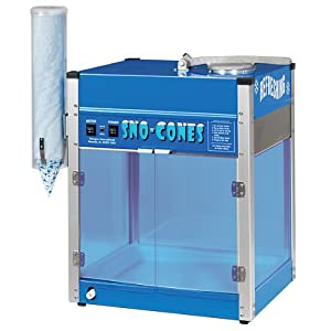Paragon Blizzard Sno Cone Machine for Professional Concessionaires Requiring Commercial Heavy Duty Snow Cone Equipment 1/3 Horse Power 792 Watts