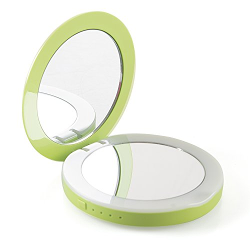 Yvettevans Compact Travel Makeup Mirrorwith Light HD LED ...