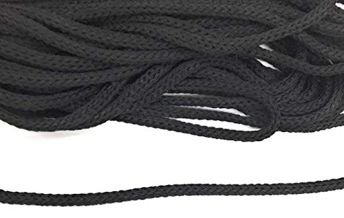 Weave Black Cord with Gold Metallic Trims 1/16