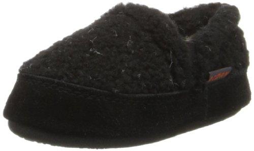 Acorn Boys' Colby Gore Moc, Black Berber, 8-9 M US ()