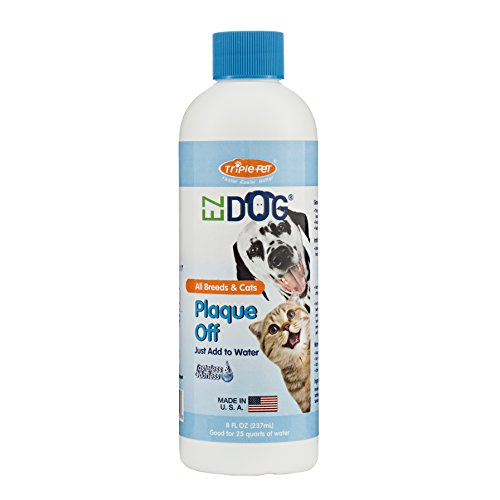 Triple Pet EZ Dog Plaque Off Fresh Breath Drinking Water Additive for Dogs and Cats | Best Solution For All Dogs And Cats With Plaque And Bad Breath