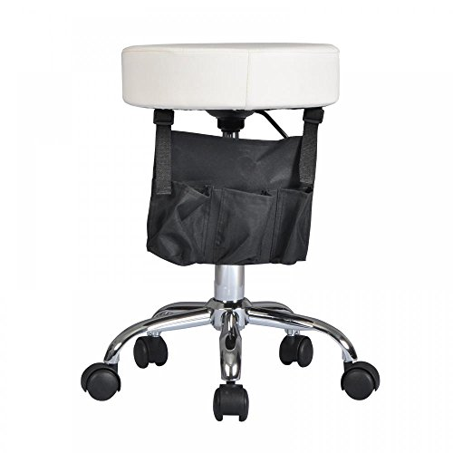 Price comparison product image White Adjustable Hydraulic Rolling Swivel Stool Tattoo Facial Massage Salon