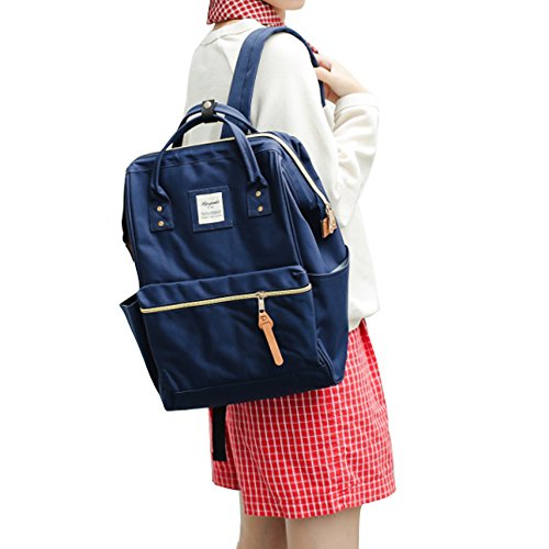 Travel Outdoor Computer Backpack Laptop bag middle(darkblue) - 1