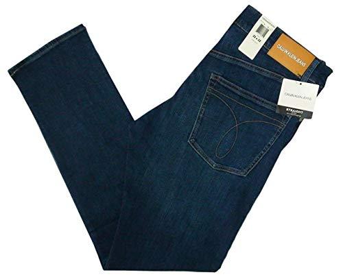 Palo Collection - Calvin Klein Men's Straight Jeans (AUDE Blue, 40W x 30L)