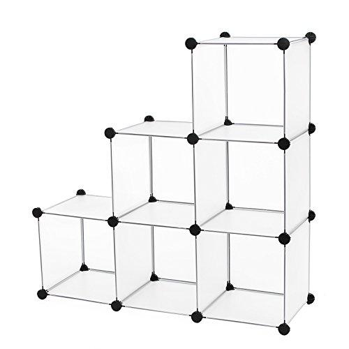 SONGMICS Storage Cube Organizer DIY Closet Cabinet Chests Space-saving ULPC06W (Closet Organizer Cubes)