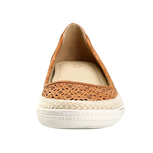 Leroy Toe Women's Cutout Camel Round Slip On Bowknot Alexis Breathable Shoes Espadrille pwxOHtxd