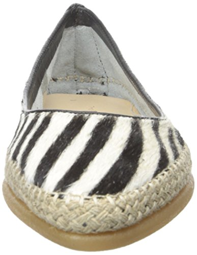 Donna Black Ballerina La Zebra Flexx Da Flat Patent Cavalino nYBRRWg7d