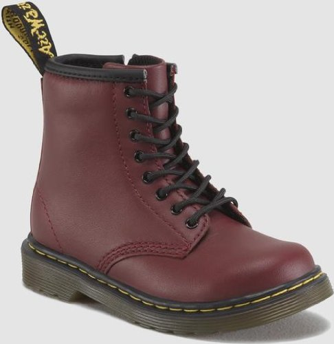 Dr. Martens Brooklee Boot (Toddler),Cherry Red Softy,9 UK (10 M US Toddler)]()