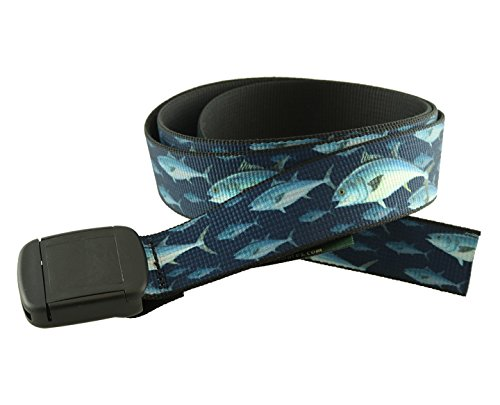 Hiker Belt Saltwater Fish Patterns Made in USA by Thomas Bates (Bluefin ()