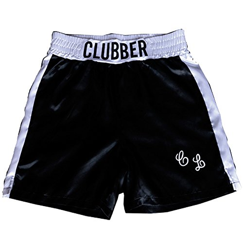 Clubber Lang Rocky Mr T Mens Boxing Trunks Shorts Black