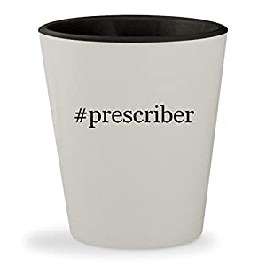 #prescriber - Hashtag White Outer & Black Inner Ceramic 1.5oz Shot Glass