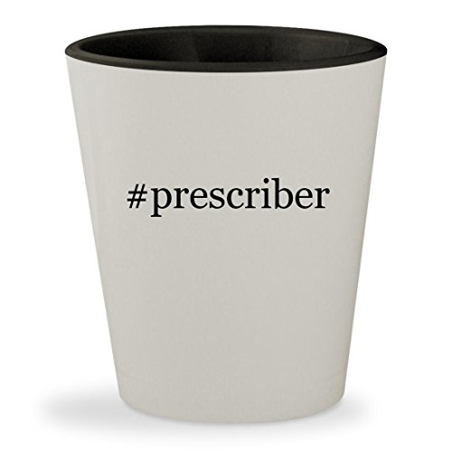#prescriber - Hashtag White Outer & Black Inner Ceramic 1.5oz Shot - Prescribed Eyeglasses
