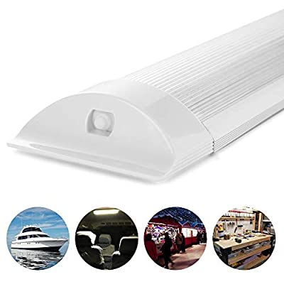 SS VISION Led Interior Light Bar, 1500LM Super Bright Energy Saving 11 Inch 10W 72 LEDs White Light Tube with On Off Switch for Car Van Truck RV Camper Boat Lorry (2 Pack): Automotive