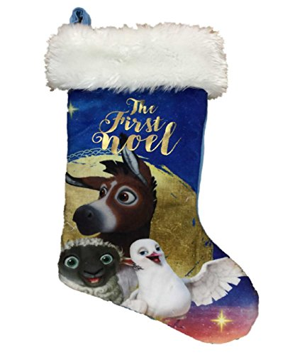 First Noel* Christian Nativity Scene Holiday Blue Christmas Stocking ()
