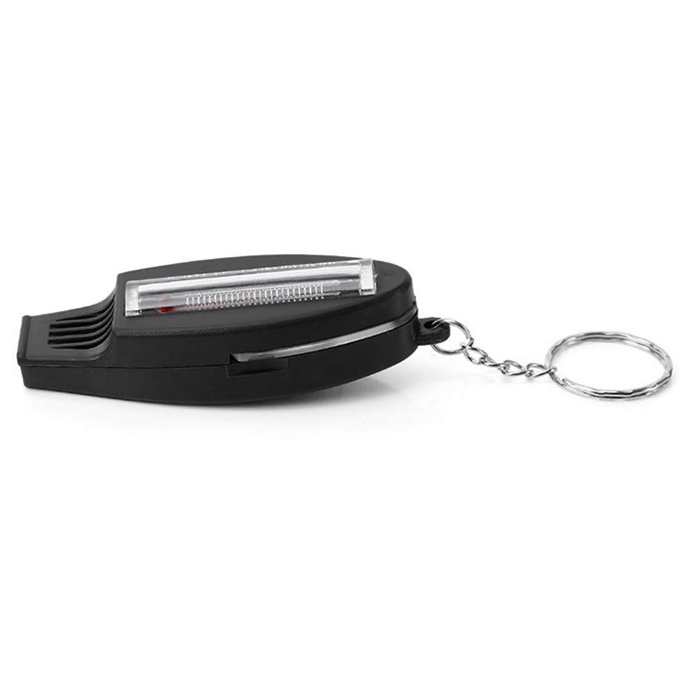 Lixada Silbato de Seguridad 4 en 1 Multifuncional Br/újula Term/ómetro Lupa con Llavero Kits de Supervivencia de Emergencia