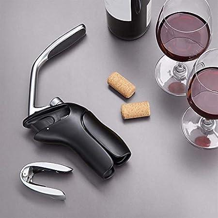420 g de aleación de zinc vertical sacacorchos de aluminio papel de aluminio cortador de herramientas de vino conjunto de corcho Destornillador de broca conjunto de vino sacacorchos bar de corchillo