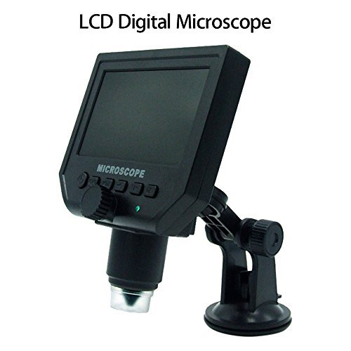 "Seesii G600 Portable LCD Display Digital Microscope Video Camera 4.3"" HD OLED 3.6MP 1-600X Magnification 1080P/720P Continuous Magnifier"