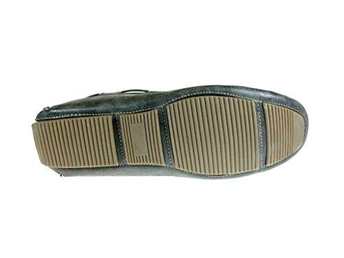 Mens 13005 Moccasin Slip On Penny Loafer Shoes Gray zyXtzTLA73