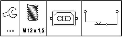 Hella 6dd 008 622 161 Bremslichtschalter 12v Anschlussanzahl 2 Rundstecker Geschraubt Elektrisch Gewindemaß M12x1 5 Öffner Auto