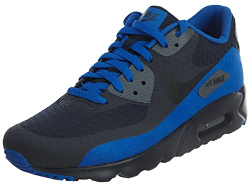 Nike Men's Air Max 90 Ultra Essential Running Shoes, Dark Obsidian/Black, 8.5 M US