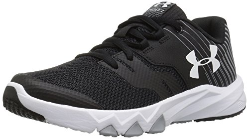 Under Armour Kids Boys Pre School Primed 2 Running Shoe Black/Steel/White