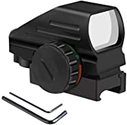 Holographic Red Green Dot Sight Flip Up Sights