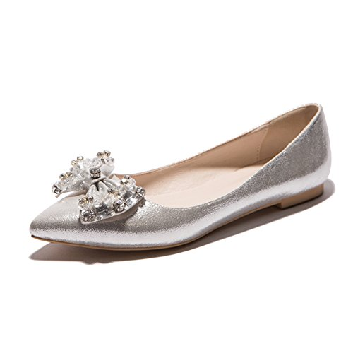 Versión coreana de los zapatos puntiagudos/Zapatos de arco/las chicas princesa zapatos/Zapatos de corte bajo C
