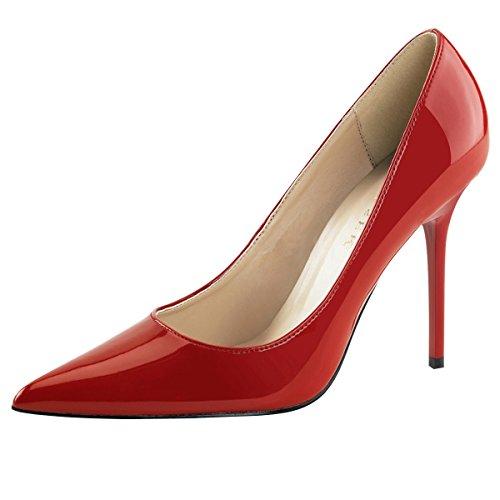 Damenpumps, Damen, Rot (rot) Rot (Rot)