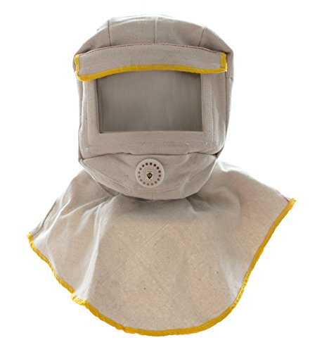 Sandblasting Hood with large viewing screen for anti dusk protection