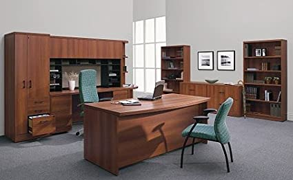 Amazon Com Global Bow Front Executive Office Desk 32 36 D X 72 W X