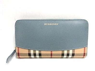 new product 30759 7ae9c Amazon   [バーバリー] BURBERRY ラウンド長財布 長財布 青系 ...