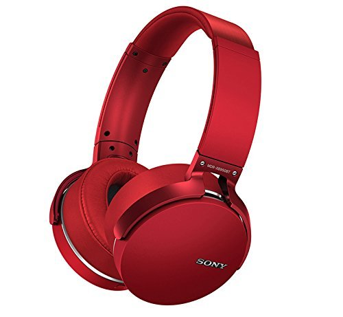 Sony-MDR-XB950BTR-Extra-Bass-Bluetooth-Wireless-Headphones-wMicrophone-Red-Certified-Refurbished