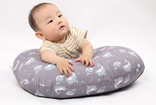 SALE - Dolphin Nursing Pillow and Positioner (With TWO Slipcovers), Positioning & Support For Breastfeeding Moms & Baby. A Perfect Present / Great Baby Shower Gift!