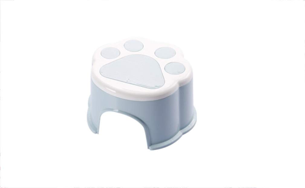 AO-stools Thickening Stool Plastic Cartoon Stool Change Shoes Bench Cute Children Stool Baby Footstool 142020.5cm (Color : Blue)