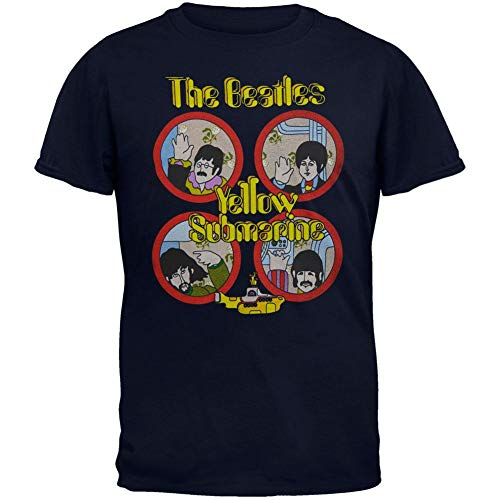 (The Beatles - Yellow Sub Hand Wave Youth T-Shirt - Youth Large )