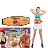 Skycandle Sweat Waist Trimmer Fat Burner Belt for men and women Belly Tummy Yoga Wrap Black Exercise Body Slimming Belt, (Free Size)