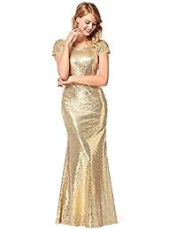Gold Long Formal Dresses