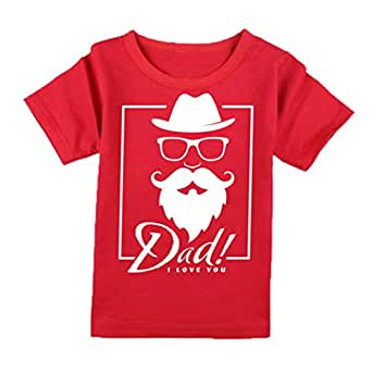 FMstyles Red Round Neck T-Shirt For Unisex