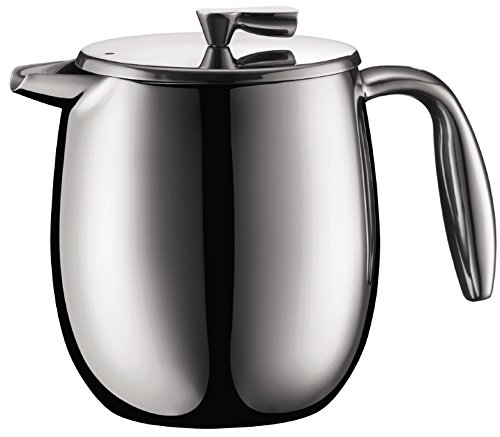 Bodum Columbia - Insulated French Press Coffee Maker - Dishwasher Safe - Stainless Steel - Stainless Steel Matt - 4 Cups/0.5l Dishwasher Safe Coffee Maker