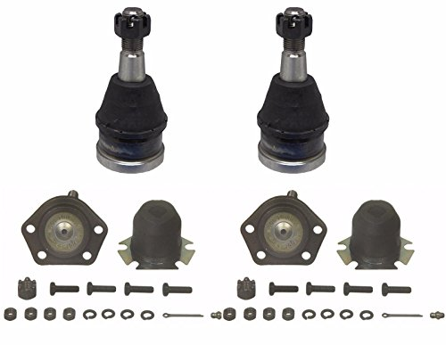 PartsW 4 Piece Kit Front Upper and Lower Ball (82 Upper Ball Joint)