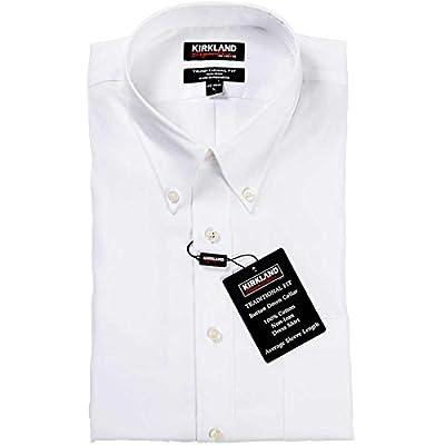 Kirkland Signature Men's Traditional Fit Button Front Long Sleeve Shirt
