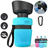 lesotc Pet Water Bottle for Dogs, Dog Water Bottle Foldable, Dog Travel Water Bottle, Dog Water Dispenser, Lightweight…