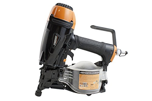 "Freeman PCN65 Pneumatic 15 Degree 2-1/2"" Coil Siding Nailer Ergonomic and Lightweight Nail Gun with Tool-Free Depth Adjust and Side Load Magazine"