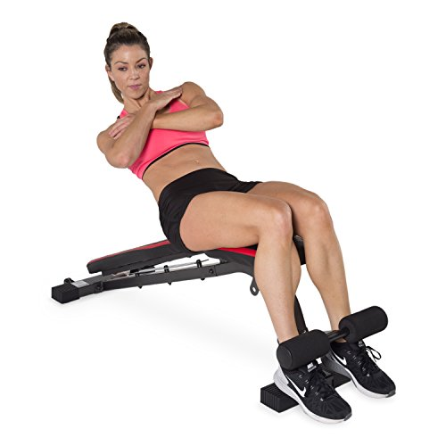 CAP Barbell Memory Foam FID Training Bench, Black/Red