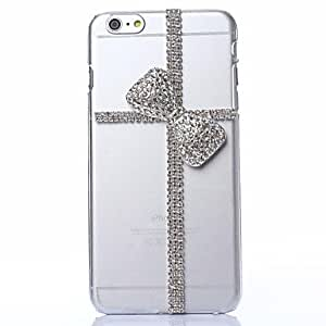 DD DIY Exquisite Cross with Rhinestones Pattern Plastic Hard Cover for iPhone 6 Plus