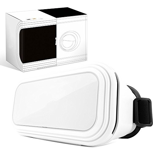 Virtual Reality Headset Box Black Knight 3D VR Glasses for Games and Video - Watch Movies In Breathtaking HD With Your iPhone Android Smartphones (White)