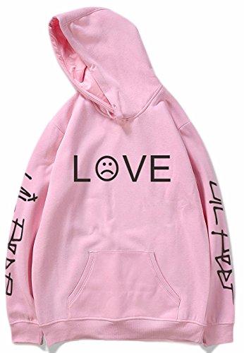 SERAPHY 2018 R.I.P Lil Peep Rapper Unisex Hoodie Hip Hop Spring Sweatshirts Harajuku Casual Hoodie Men/Women Print Clothes Pink - Ri Star Pocket