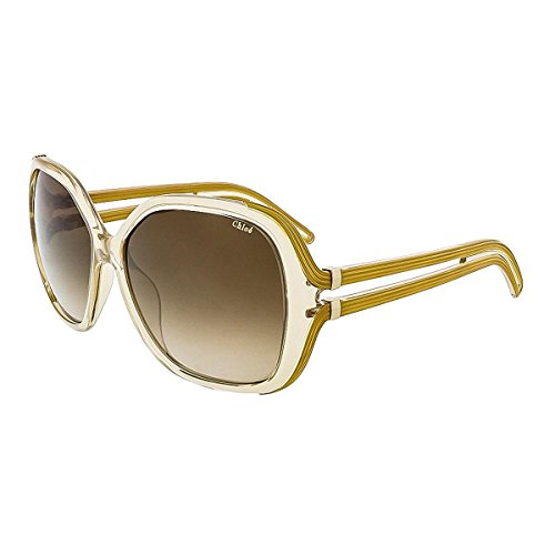 Chloe Womens Oversized UV Protection Square Sunglasses Beige - Cheap Sunglasses Chloe