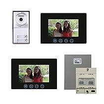 Video Intercom System Two 7 Inch Color Monitors & Door Panel Kit